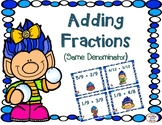 Winter- Adding Fractions With Like Denominators