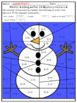 Winter Adding and Subtracting Within 10 Mystery Pictures