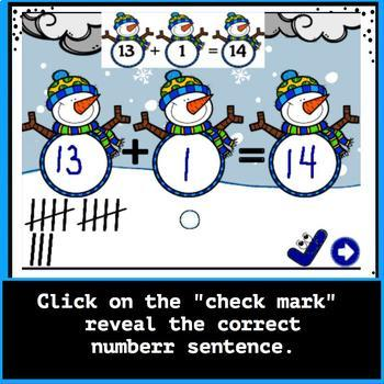 Winter Addition Facts 10 to 20: Activinspire Flipchart