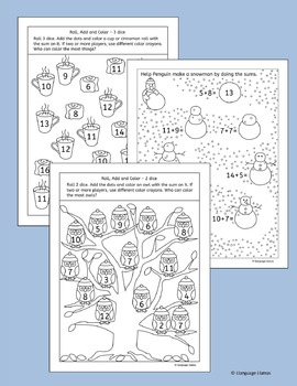 Winter Addition Worksheets and Activities