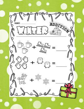 Winter Addition Worksheet