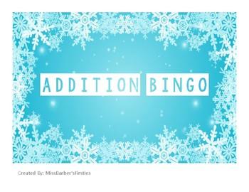Winter Addition Bingo