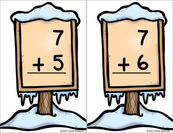 Winter Addition Cards and Worksheets