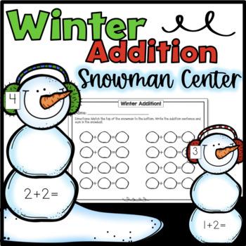 Winter Addition Center- Kindergarten or First Grade