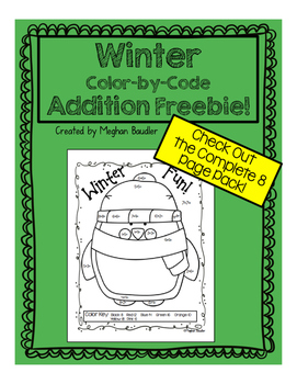 Winter Addition Color-By-Code Freebie!