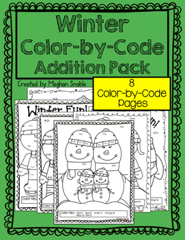 Winter Addition Color-By-Code Pack