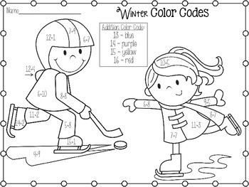 Winter Addition Color Code Freebie