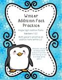 Winter Addition Fact Fluency Practice