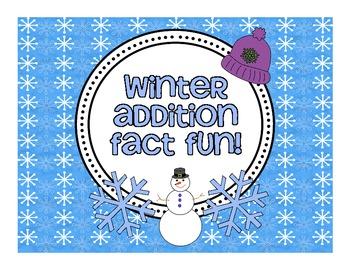 Winter Addition Fact Fun