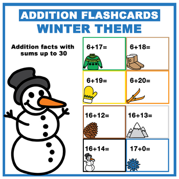 Winter Addition Flashcards