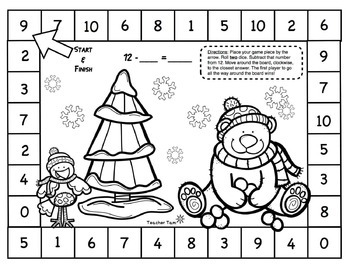 Math Centers Kindergarten 1st 2nd Grade Winter | Math Games Kindergarten 1st 2nd