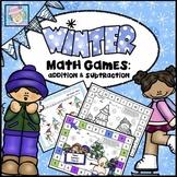 Winter Math Centers Kindergarten 1st 2nd Grade | Math Games Kindergarten 1st 2nd