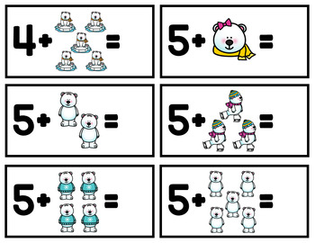 Winter Addition Game - Counting Polar Bears