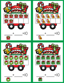 Winter Addition Game - Five and Ten Frames