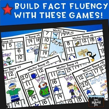 Winter Math: Addition Bump Games and Printables