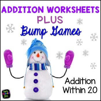 Winter Math Addition Games and Printables