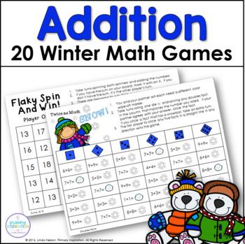 First Grade Winter Addition Games