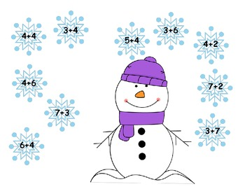 Winter Addition: Match It Up Game