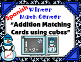 Winter Addition Matching Cards - Math Center - Spanish Numbers 1-10
