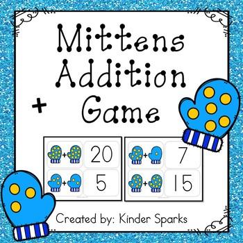 Winter Addition Math Station Game