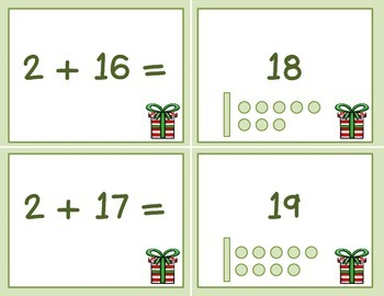 Winter Addition Math Task & Matching Cards
