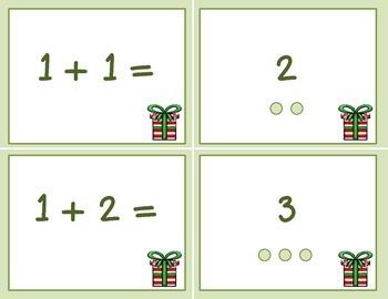 Winter Addition Math Task & Matching Cards