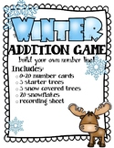 Winter Addition- Number Line Practice Activity