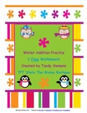 Winter Addition Practice 2 Free Worksheets