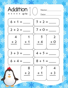 Winter Practice Sheets - Addition and Subtraction