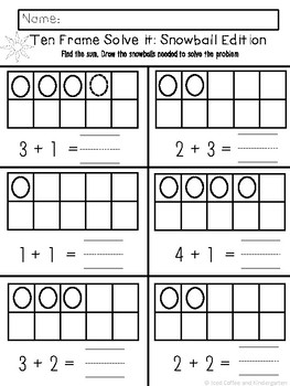 Winter Addition: Print and Go Addition Practice