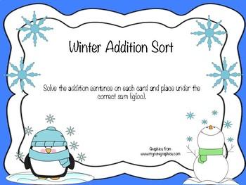 Winter Addition Sort