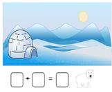 Winter Addition Stories Smartboard (snowman, bear, polar b