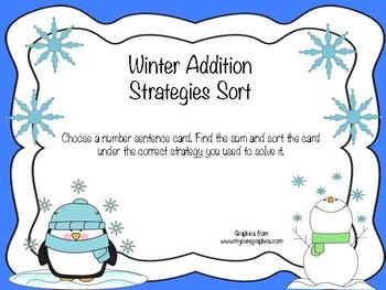 Winter Addition Strategies Sort