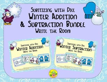 Winter Addition & Subtraction Bundle {Subitizing with Dice}