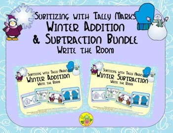 Winter Addition & Subtraction Bundle {Subitizing with Tall