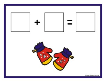 Winter Addition & Subtraction Math Mats eBook