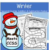 Winter Second Quarter Addition Subtraction Packet