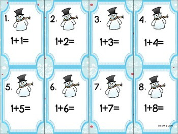 Winter Addition & Subtraction Scoot