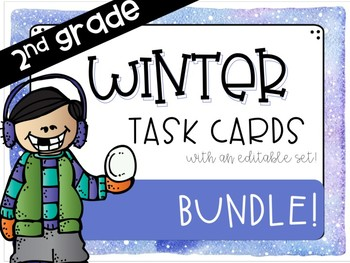 Winter Addition/Subtraction Task Card Bundle