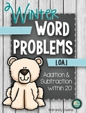 Winter Addition & Subtraction Word Problems within 20: Arctic Animals!