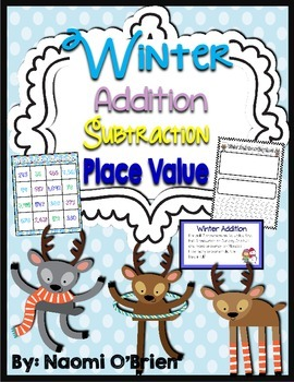 Winter Addition, Subtraction, and Place Value