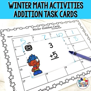 Winter Addition Task Cards