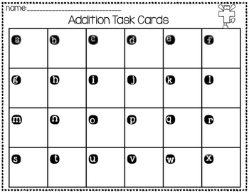 Winter Addition Task Cards (within 10)