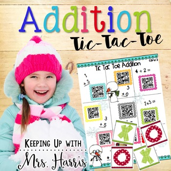 Winter Addition Tic Tac Toe Games