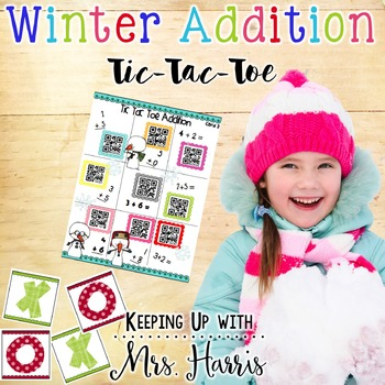 Winter Addition Tic Tac Toe Games Sample