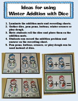 Winter Addition With Dice