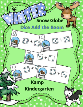 Winter Addition Within 10 Snow Globe Snowflake Dice Add the Room