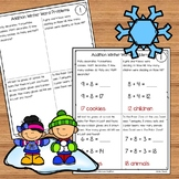 Winter Addition Word Problems Numbers 1 - 20 for Kindergarten and 1st Grade