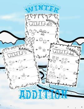 Winter Addition Worksheets