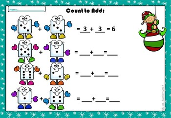 Winter Addition Worksheets.Color